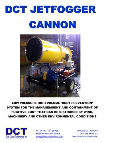 Jet Fogger Cannon Technical Data