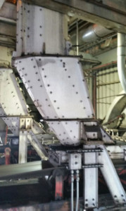 Flow Control Chute for PRB Coal