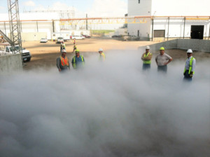 TEsting a Fog System for an Amazed Group