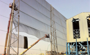 Wind Fence Installation
